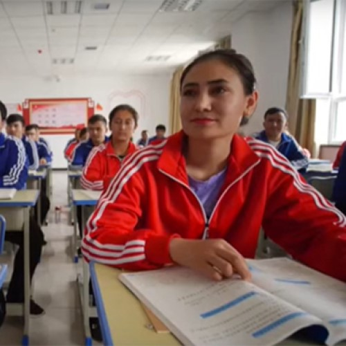 Uighur-muslims-study-in-a-Xinjiang-reeducation-centre