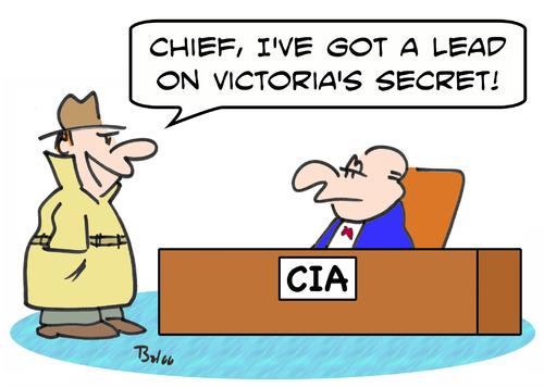 CIA lead Victorias secret By rmay | Politics Cartoon | TOONPOOL