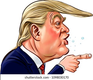 Donald Trump Cartoon High Res Stock Images | Shutterstock